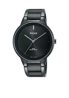 Pulsar Men's Black Stainless Steel Watch