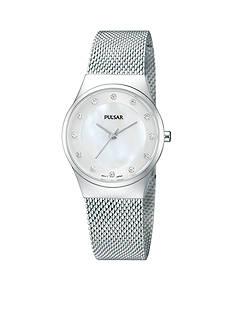 Pulsar Women's Silver-Tone Mesh Band Casual Watch