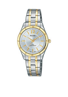 Pulsar Women's Two-Tone Easy Style Silver Dial Watch