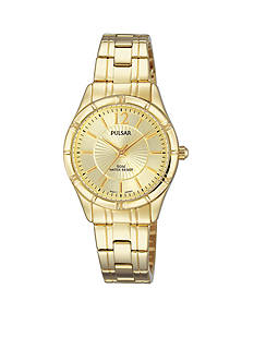 Pulsar Women's Gold-Tone Easy Style Champagne Dial Watch
