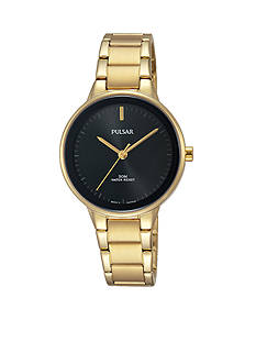 Pulsar Women's Gold-Tone and Black Watch