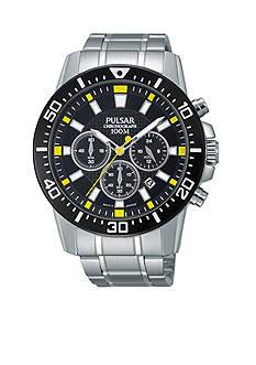 Pulsar Men's Silver-Tone Chronograph Watch