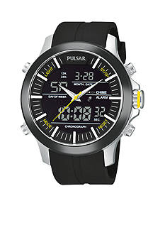 Pulsar Men's Active Sport Digital and Analog Strap Watch