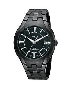 Pulsar Men's Black Ion Finish Stainless Steel Dress Watch