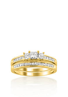 Belk & Co. 1.50 ct. t.w. Diamond Bridal Ring Set in 14k Yellow Gold