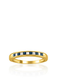 Belk & Co. 14k Yellow Gold Sapphire and Diamond Wedding Band