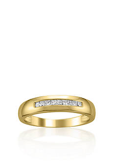 Belk & Co. Men's 1/4 ct. t.w. Diamond Wedding Band in 14k Yellow Gold