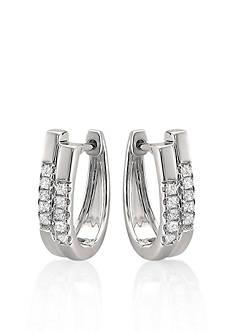 Belk & Co. Diamond Double Hoop Earrings in 14k White Gold