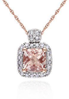 Belk & Co. 10k Rose Gold Morganite Pendant