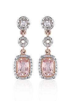 Belk & Co. 10k Rose Gold Morganite Earrings