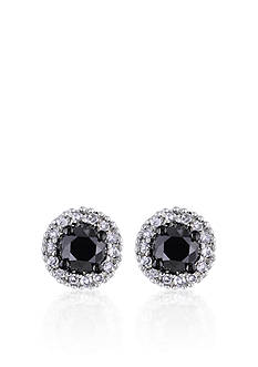 Belk & Co. Black and White Diamond Earrings in 14k White Gold