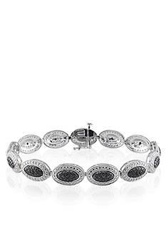 Belk & Co. Black Diamond Bracelet in Sterling Silver