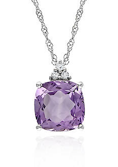 Belk & Co. 10k White Gold Amethyst Pendant