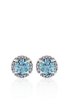 Belk & Co. 10k White Gold Blue Topaz Stud Earrings