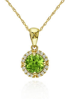 Belk & Co. 10k Yellow Gold Peridot Pendant