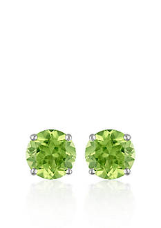 Belk & Co. 14k White Gold Peridot Stud Earrings