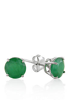 Belk & Co. 10k White Gold Emerald Stud Earrings