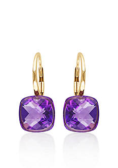 Belk & Co. 14k Rose Gold Amethyst Earrings