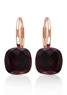 Belk & Co. 14k Rose Gold Garnet Earrings