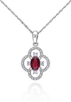 Belk & Co. 10k White Gold Ruby Pendant