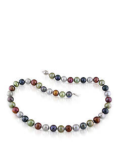 Belk & Co. Sterling Silver Multi Color Cultured Freshwater Pearl Necklace