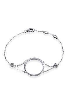 Belk & Co. Diamond Open Circle Bracelet in Sterling Silver