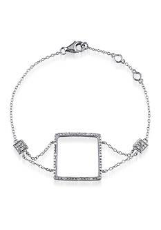 Belk & Co. Diamond Open Square Bracelet in Sterling Silver
