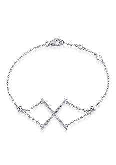 Belk & Co. Diamond Open Kite Bracelet in Sterling Silver