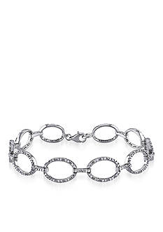 Belk & Co. Diamond Oval Link Bracelet in Sterling Silver