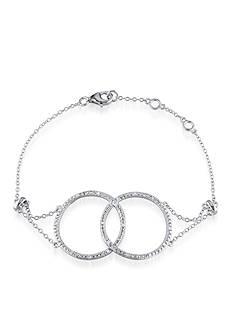 Belk & Co. Diamond Double Circle Bracelet in Sterling Silver