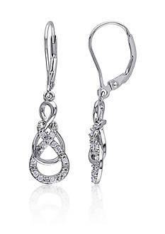 Belk & Co. Diamond Swirl Earrings in Sterling Silver