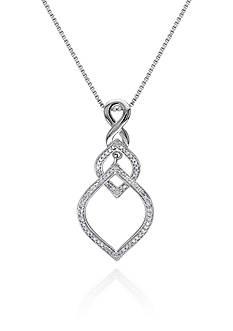 Belk & Co. Diamond Drop Pendant in Sterling Silver