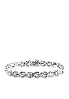 Belk & Co. Diamond Tennis Bracelet in Sterling Silver
