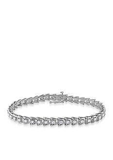 Belk & Co. Diamond Tennis Bracelet in Sterling Silver