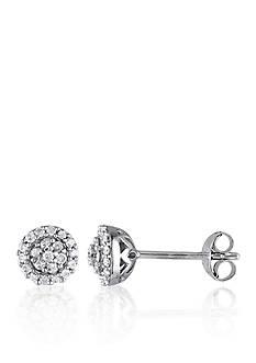 Belk & Co. 1/4 ct. t.w. Diamond Stud Earrings in Sterling Silver