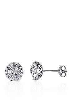 Belk & Co. 1/2 ct. t.w. Diamond Stud Earrings in Sterling Silver