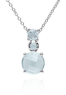 Belk & Co. Sterling Silver Blue Topaz Pendant
