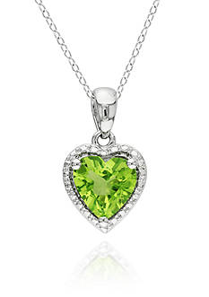 Belk & Co. Sterling Silver Peridot Heart Pendant