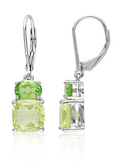 Belk & Co. Sterling Silver Peridot and Lemon Quartz Earrings