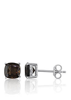 Belk & Co. Sterling Silver Smokey Quartz Earrings