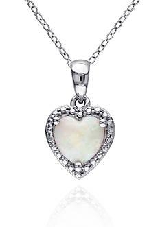 Belk & Co. Sterling Silver Opal Pendant