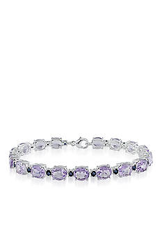 Belk & Co. Sterling Silver Pink Amethyst and Sapphire Bracelet