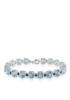 Belk & Co. Sterling Silver Blue Topaz and Sapphire Bracelet