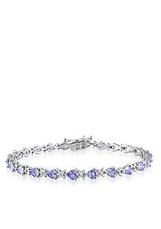 Belk & Co. Sterling Silver Tanzanite Bracelet