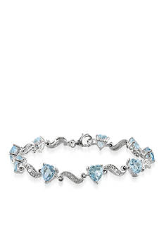 Belk & Co. Sterling Silver Blue Topaz and Diamond Bracelet