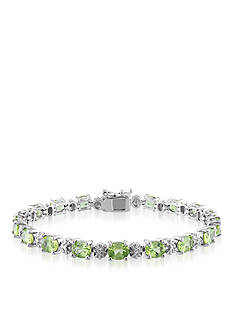 Belk & Co. Sterling Silver Peridot and Diamond Bracelet