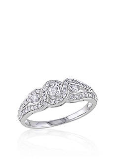 Belk & Co. 1/2 ct. t.w. Diamond Three Stone Engagement Ring in 14k White Gold