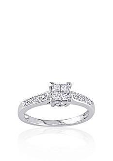 Belk & Co. 1/4 ct. t.w. Diamond Engagement Ring in 10k White Gold