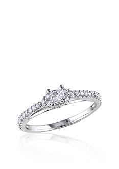 Belk & Co. 1/2 ct. t.w. Diamond Engagment Ring in 10k White Gold