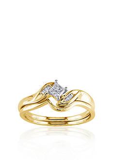 Belk & Co. 1/4 ct. t.w. Diamond Bridal Set in 14k Yellow Gold